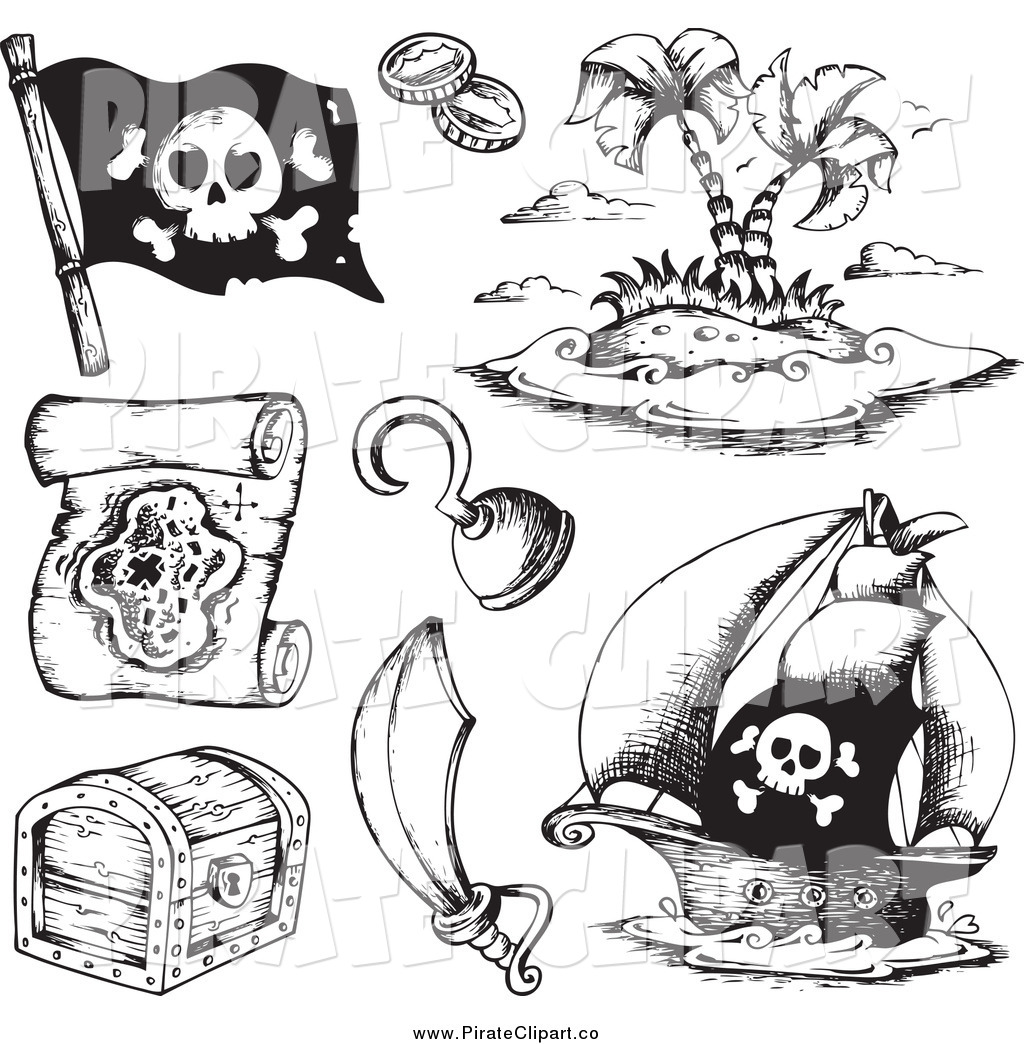 Free Map Clipart Black And White.