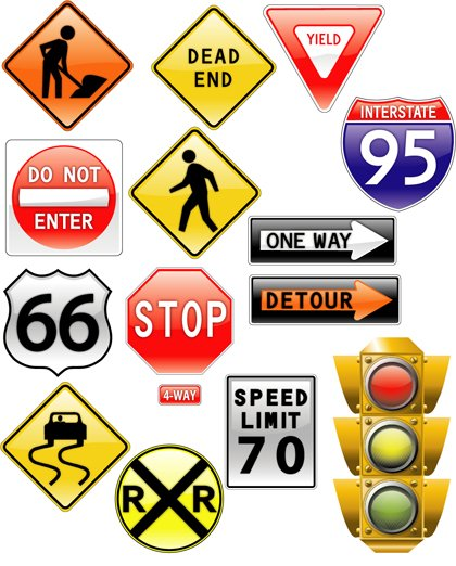 road signs & traffic light Clipart Picture Free Download.