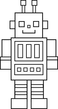 Robot coloring pages: Beep Beep!.