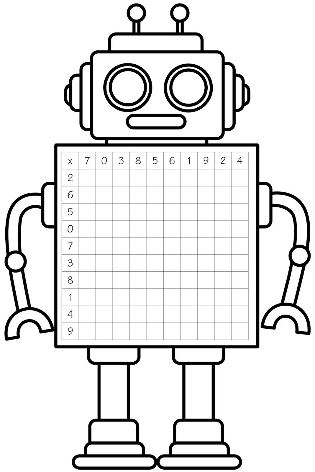 Free Robot Clipart Black And White.