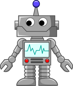 Robot Cartoon clip art.