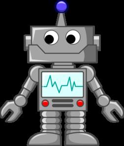 Robot Cartoon clip art.