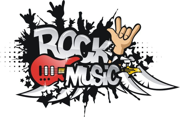 Old Rock music clipart free.