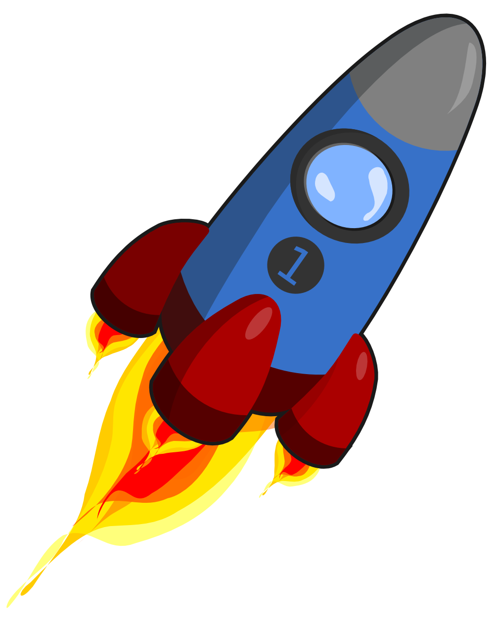 Rocket Clipart Vector.