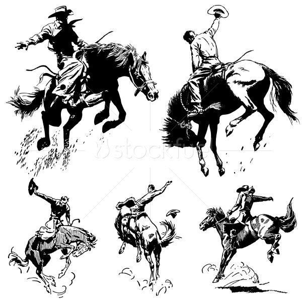Vintage Rodeo Graphics. All graphics are seperated..