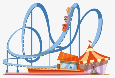 Free Rollercoaster Clip Art with No Background.