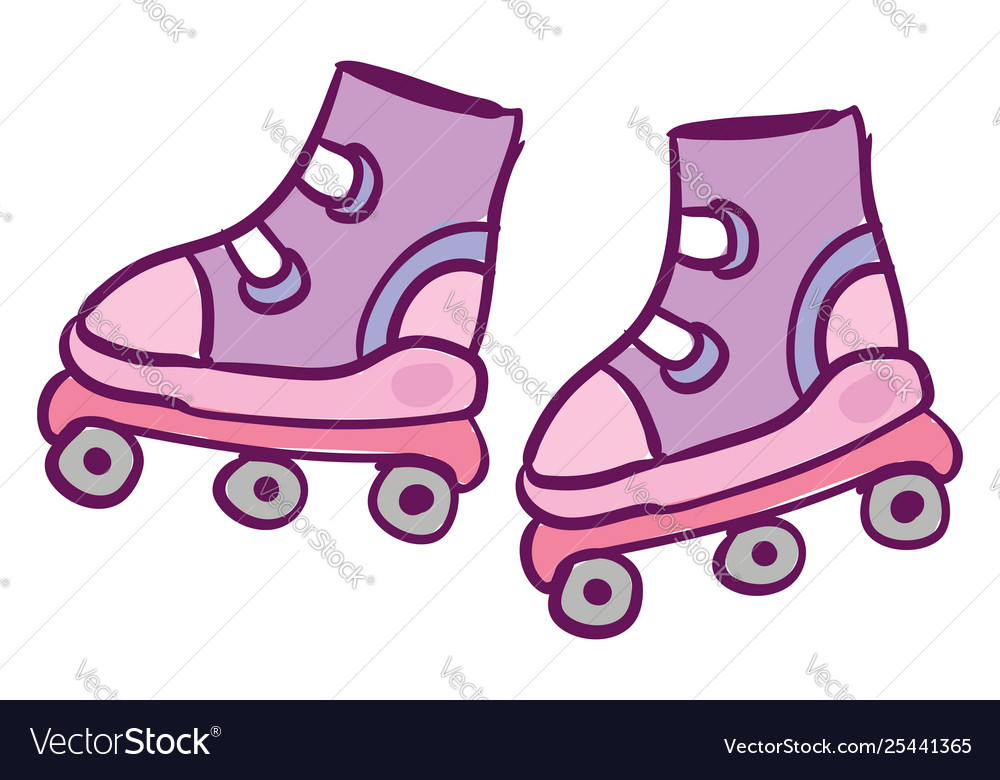Clipart cute roller skates for kids in.