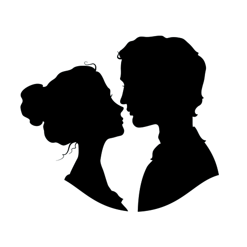 Romeo and Juliet Vector graphics Silhouette Illustration.
