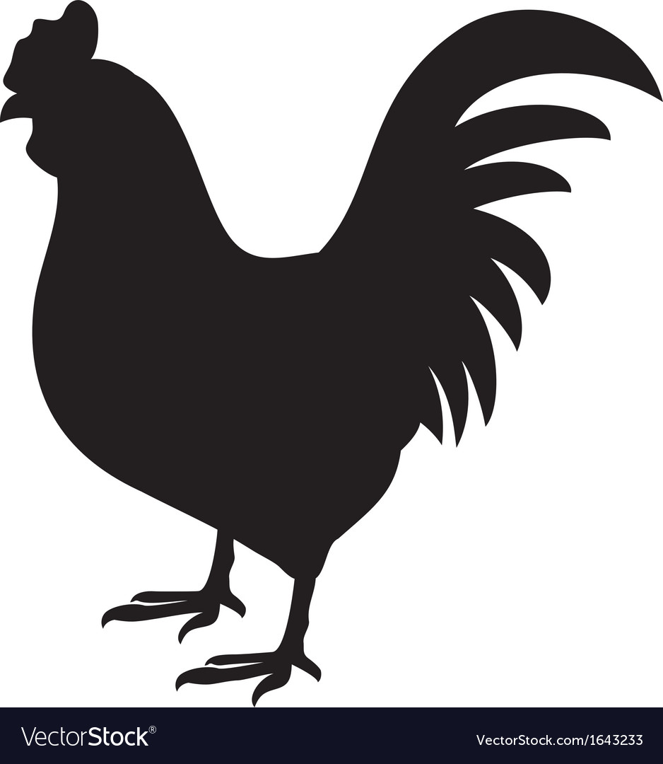 Rooster silhouette.