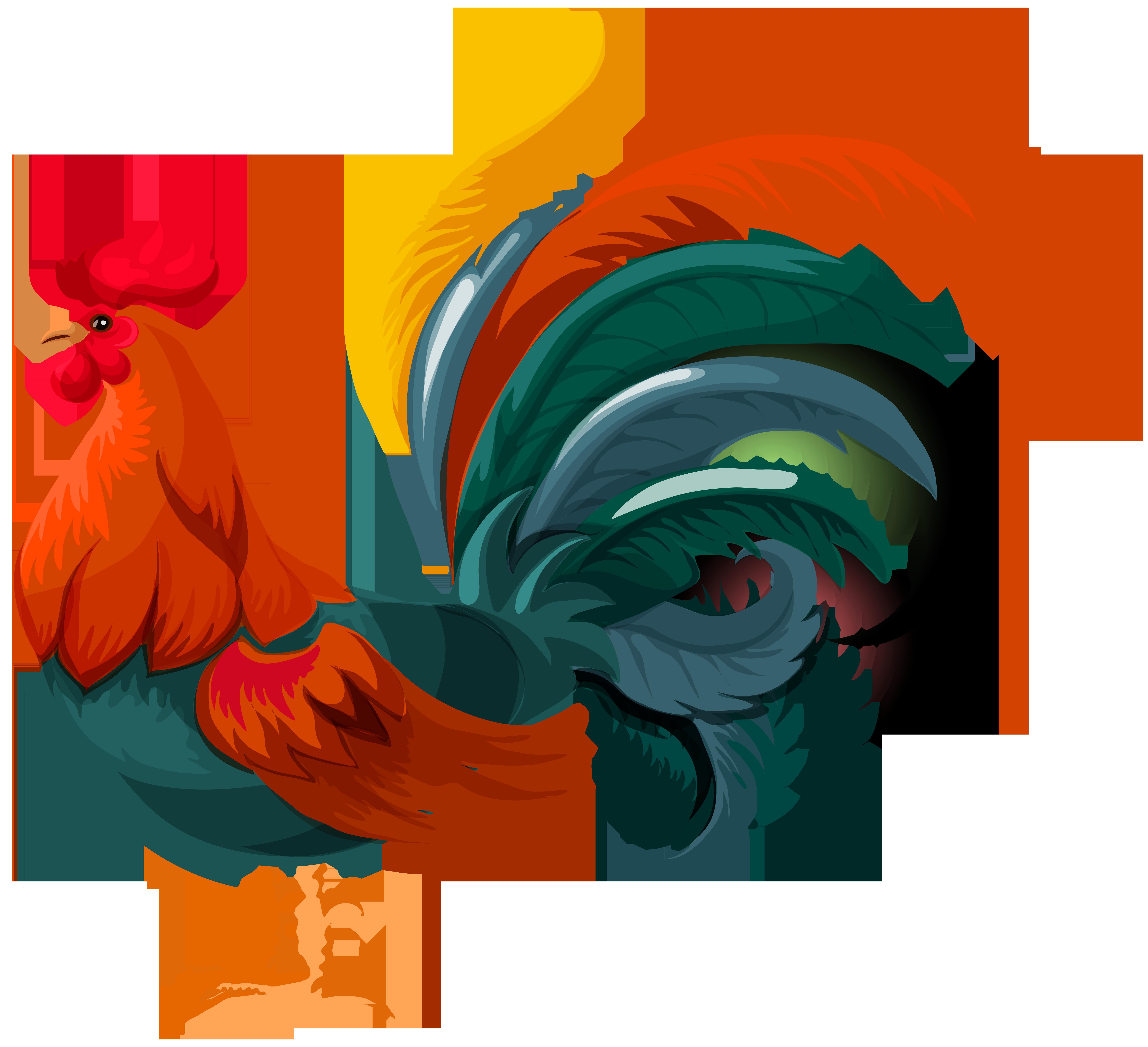 Rooster Transparent PNG Clip Art Image.