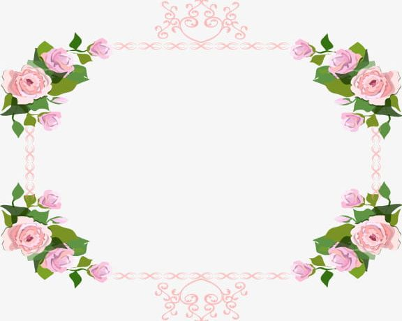 Pink Rose Border PNG, Clipart, Abstract, Backgrounds, Border Clipart.