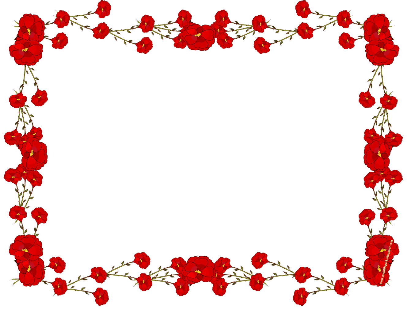 Free Rose Flower Borders, Download Free Clip Art, Free Clip Art on.