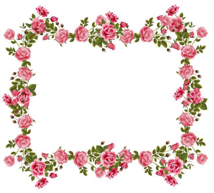 Rose Flower Border Clipart.