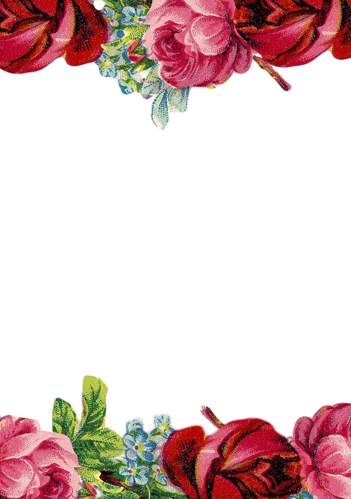 Free Printable Rose Borders.