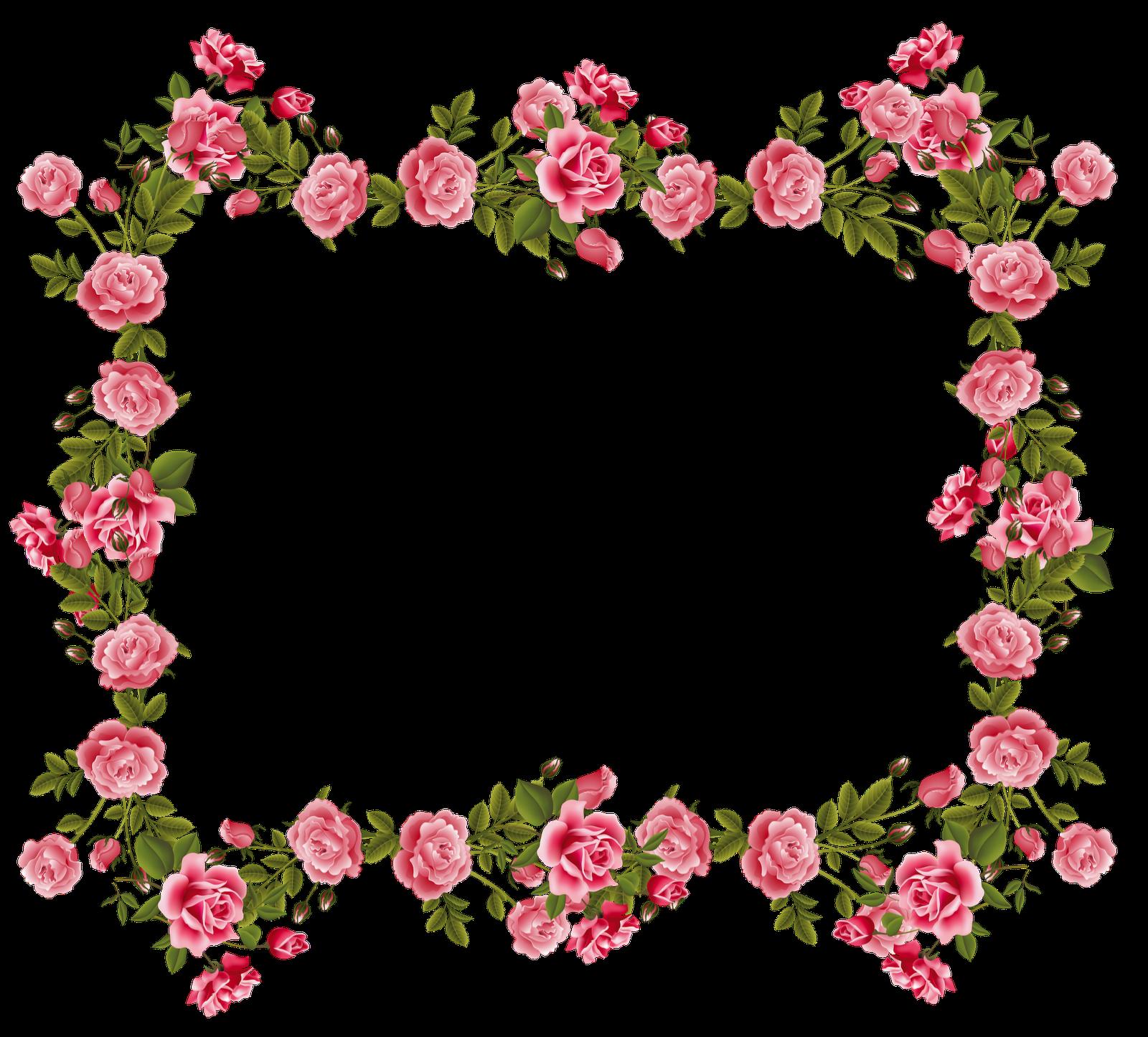 vintage flower frame / border png; free download; digital.
