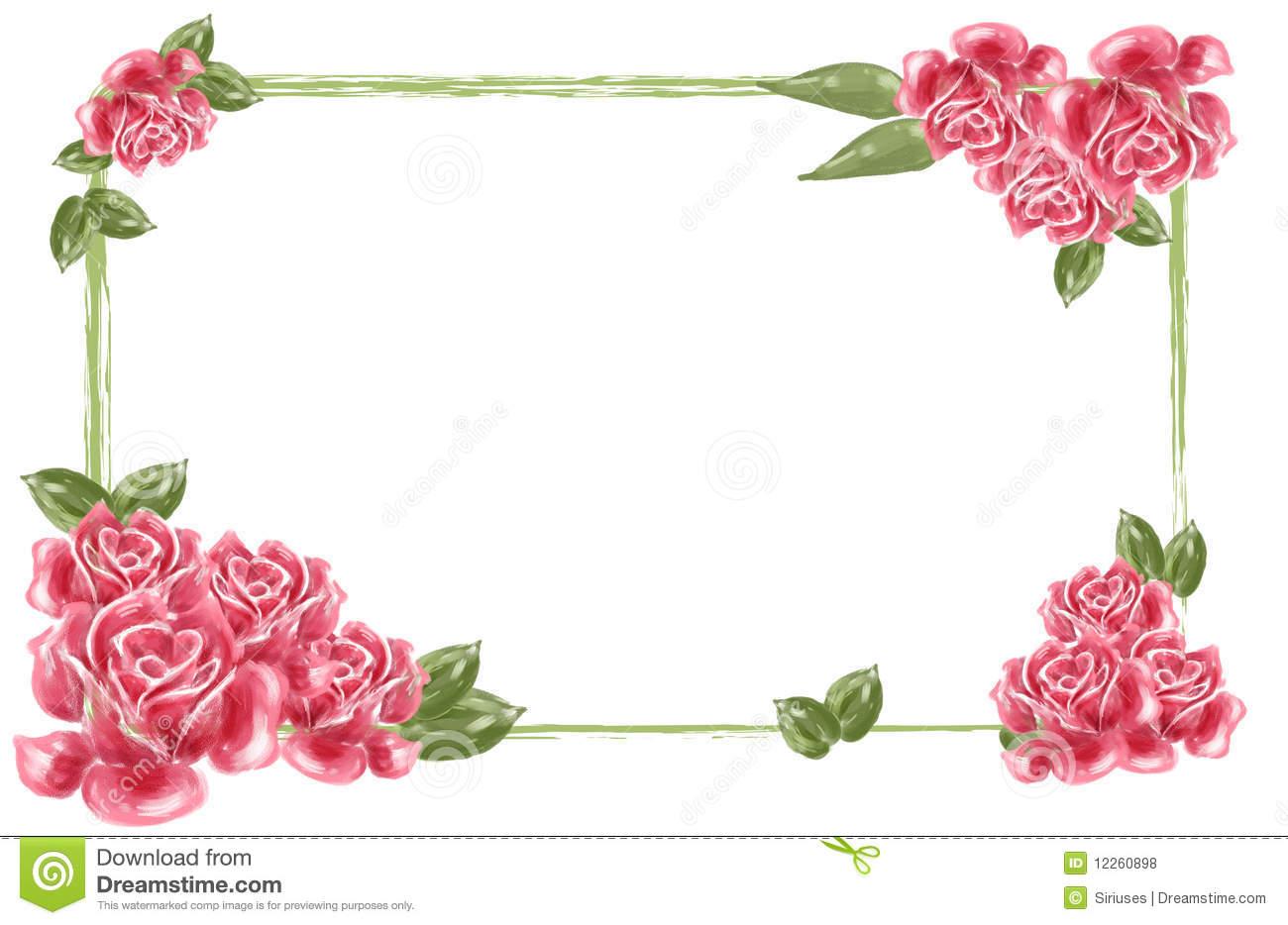 rose flower borders #11