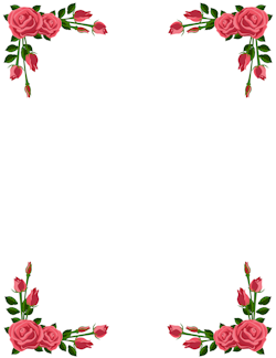Rose Page Borders.