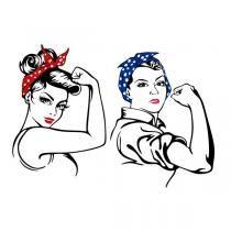 We Can Do It Rosie SVG Cuttable Design.