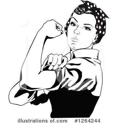 Rosie The Riveter Clipart #1110901.