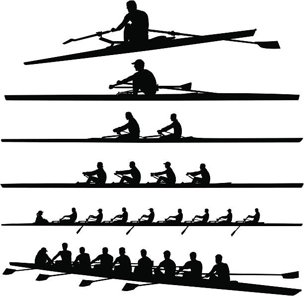 Best Rowing Illustrations, Royalty.