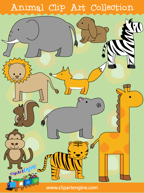 Animal Clip Art Collection for Personal and Commercial Use.