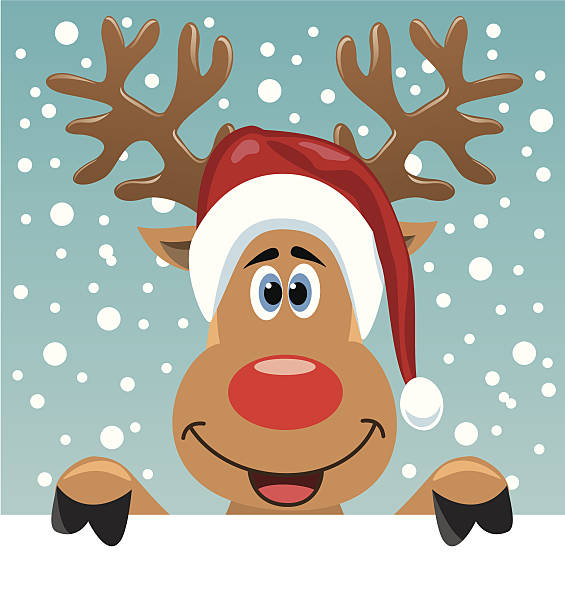 Rudolf The Rednosed Reindeer Clipart.