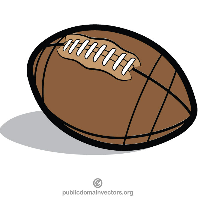 Rugby ball clip art.