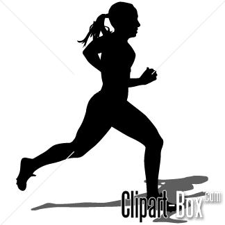 Free running girl clipart.