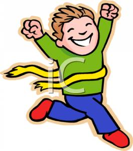 Running To Win Clipart.