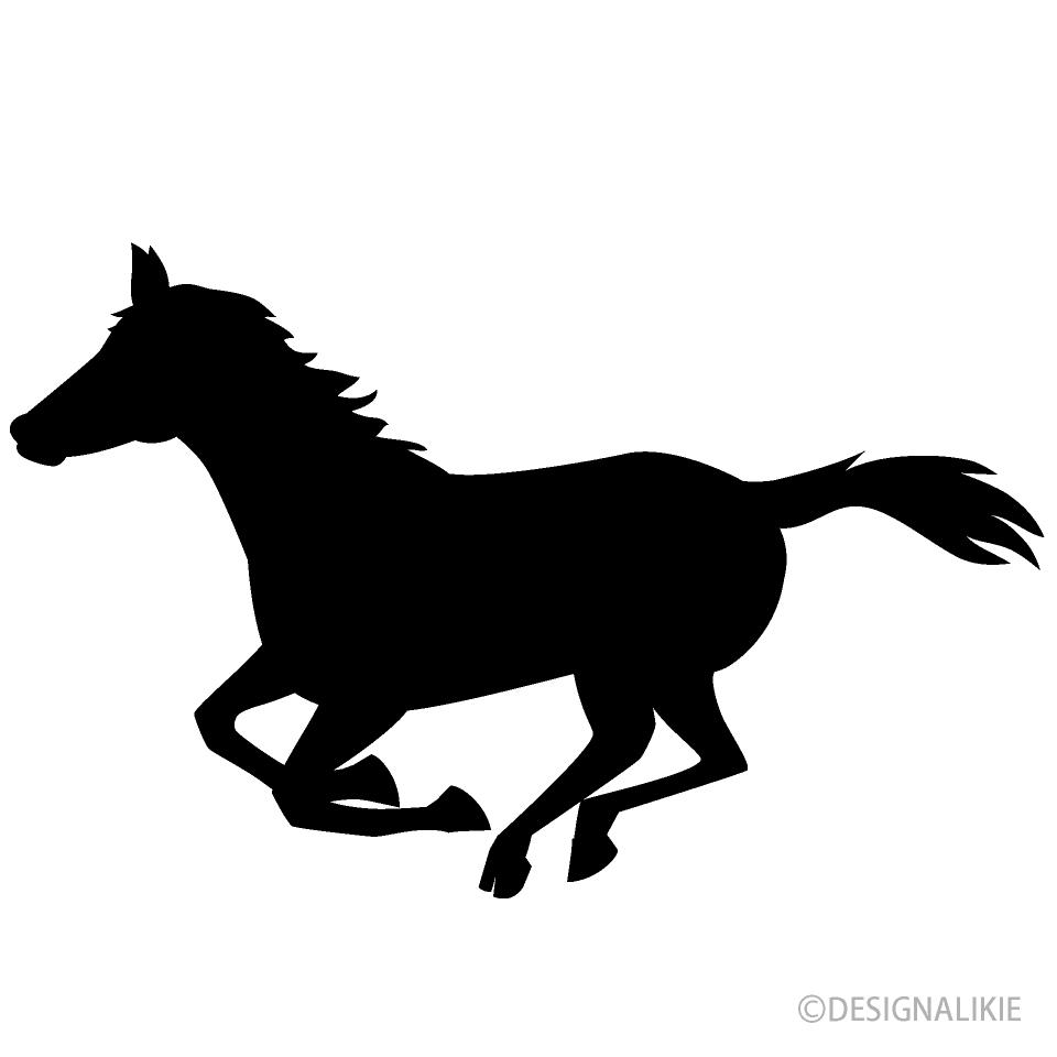 Free Running Horse Clipart Image|Illustoon.