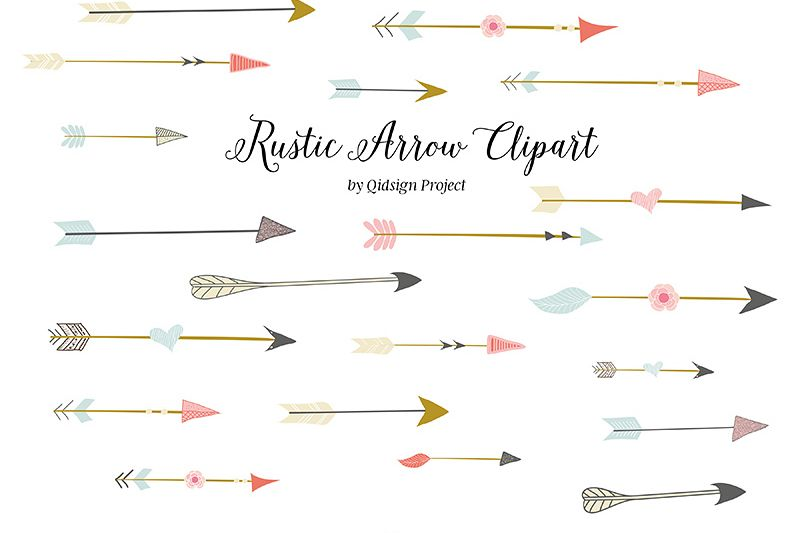 Rustic Arrow Clipart (.png).