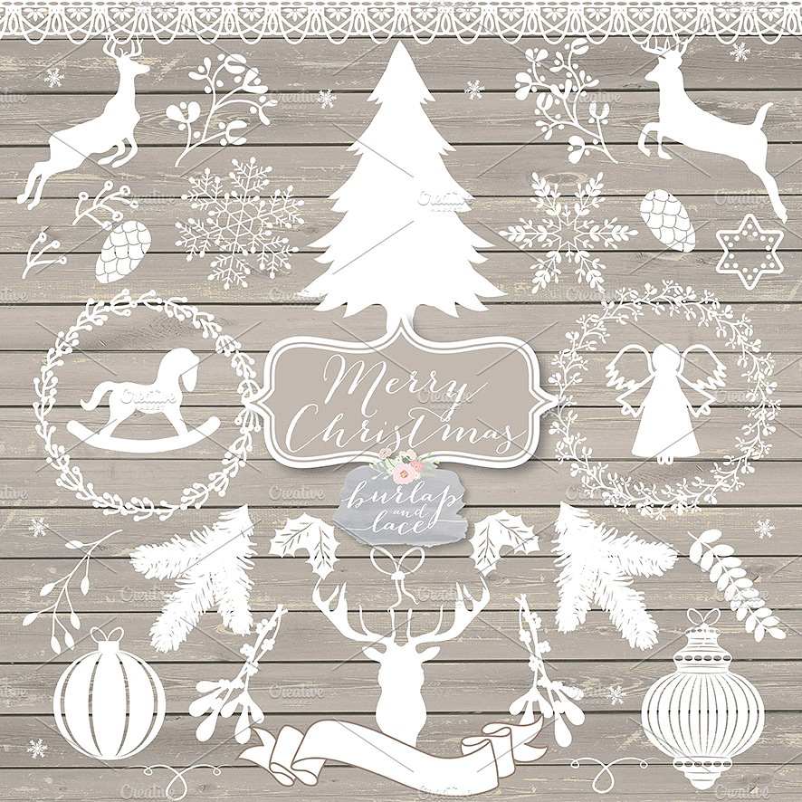 Rustic Christmas Clipart (103+ images in Collection) Page 2.