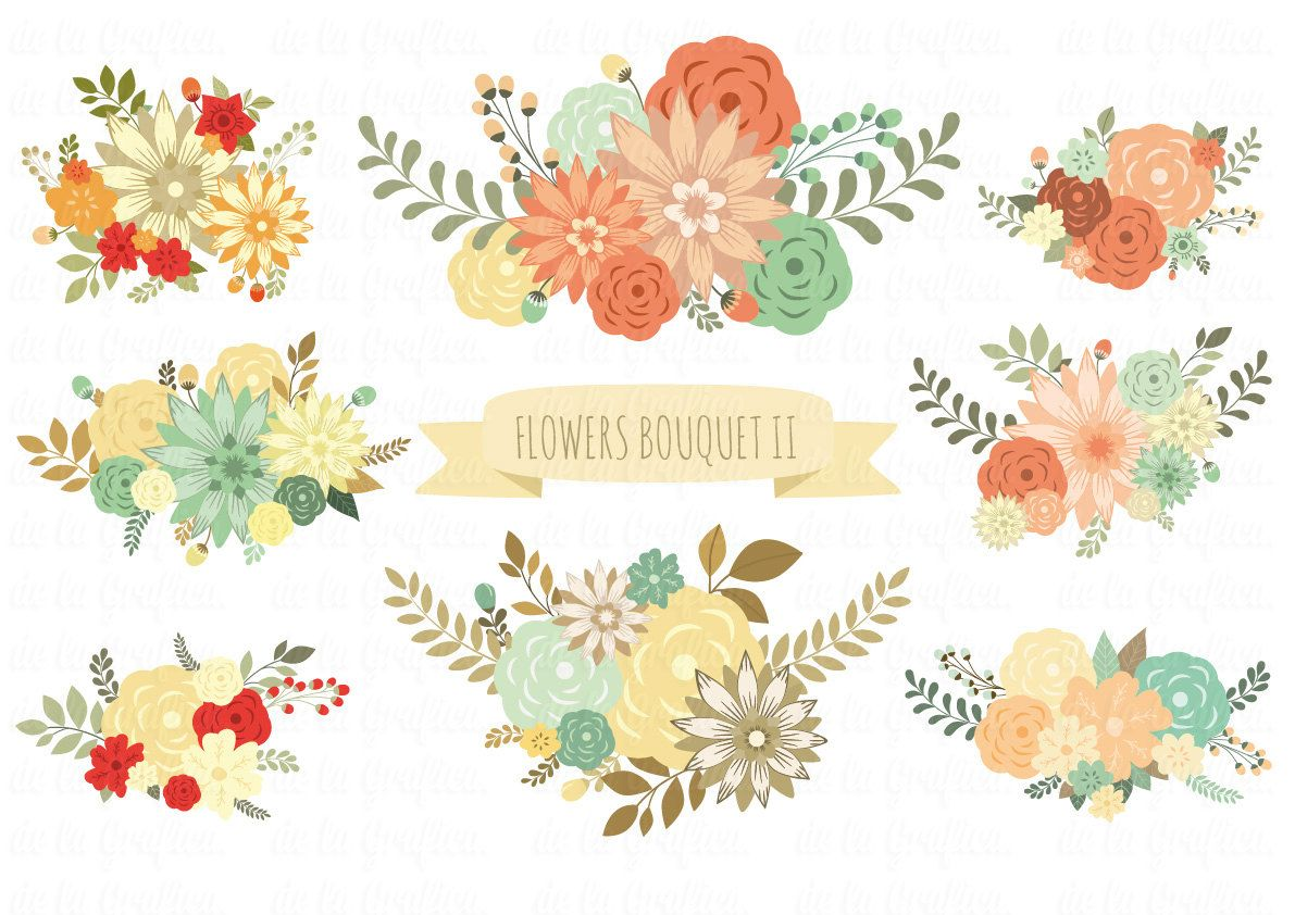Image result for rustic floral clip art.