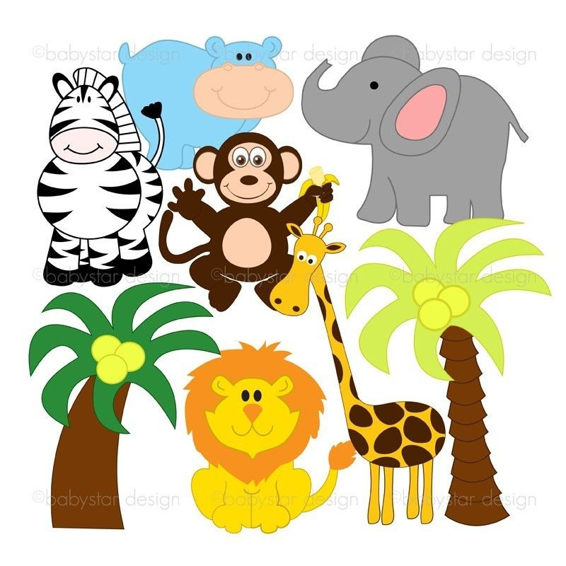 Safari Animal Clipart.