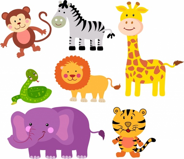 Safari Animals Free vector in Adobe Illustrator ai ( .AI.
