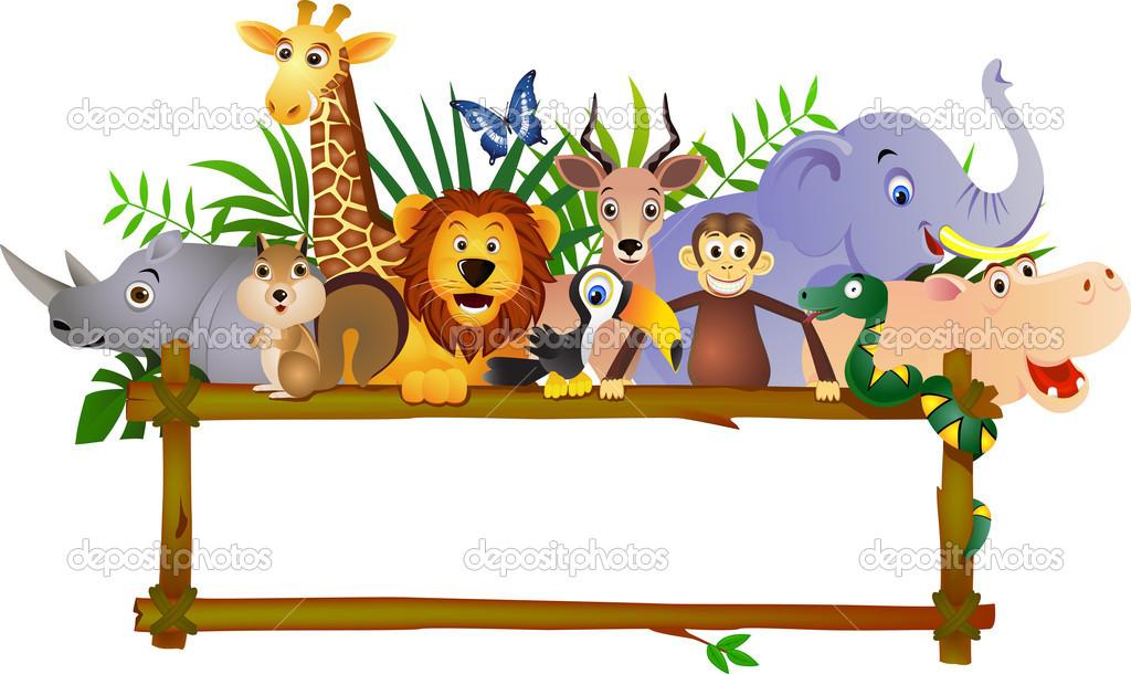 Cartoon Safari Animals Border Free Image Advanced Clipart Local 14.