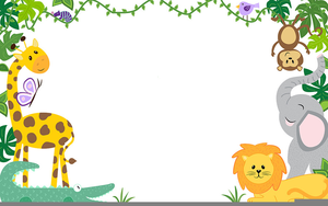 Free Baby Safari Animal Clipart.