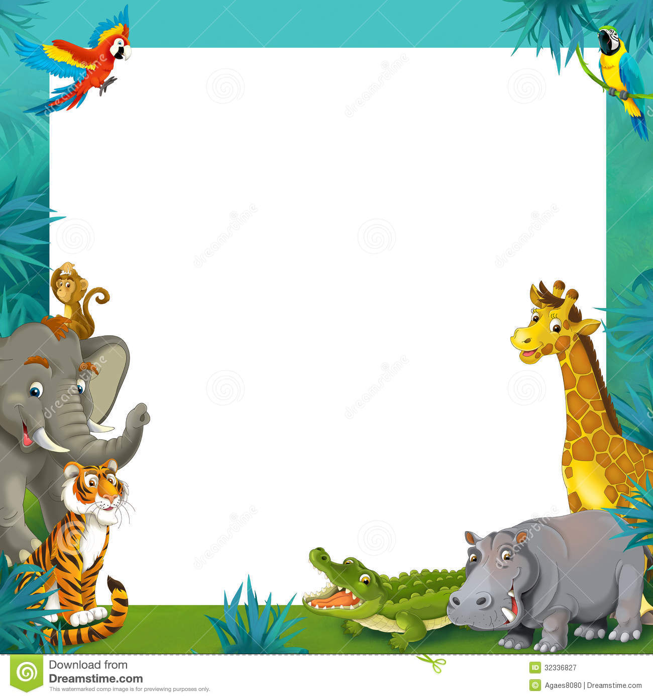 Safari Clipart Border.