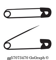 Safety Pin Clip Art.
