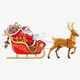 PNG Santa Sleigh And Reindeer Cliparts & Cartoons Free.