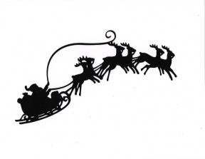 Santa Reindeer Flying Clipart.