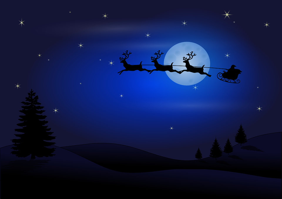 Free vector graphic: Santa, Claus, Christmas, Reindeer.