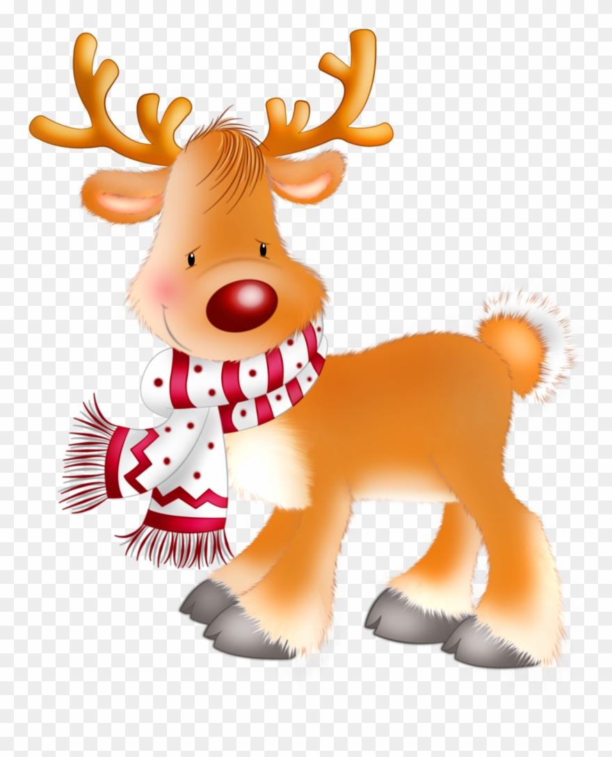 Free Santa And Rudolph Clipart.