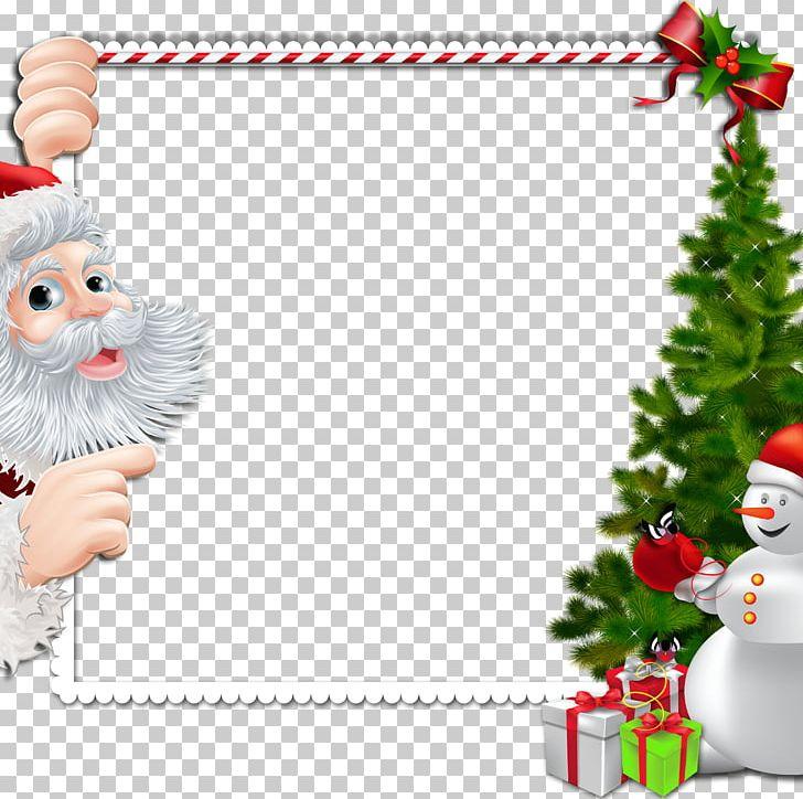 Christmas Santa Claus Frame PNG, Clipart, Border, Border Frame.