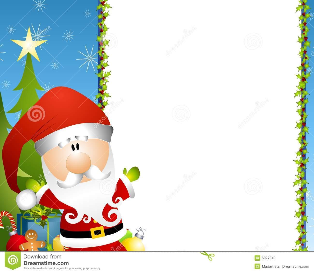 Santa Border Clipart & Free Clip Art Images #27324.