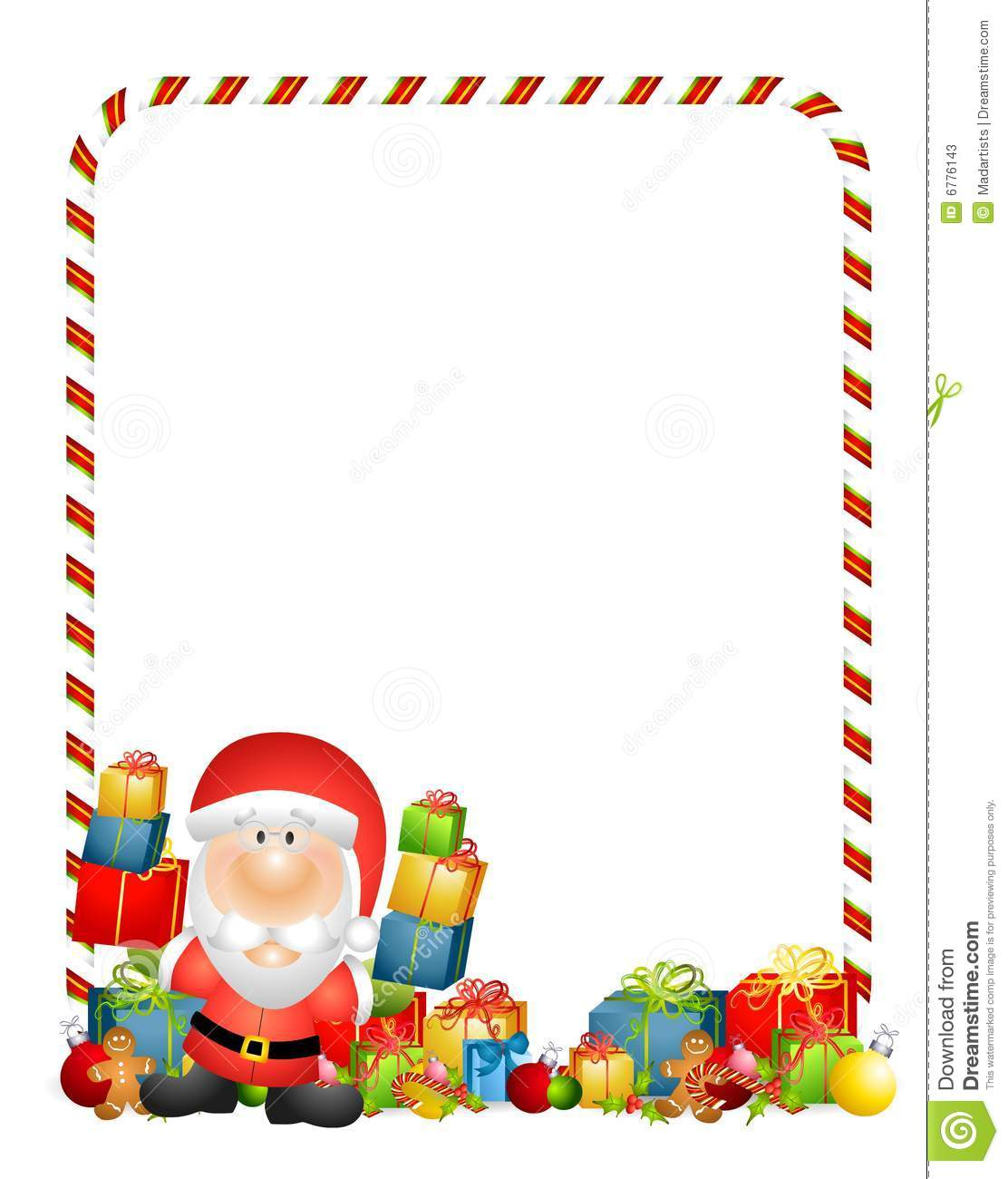 Santa Claus Border Clipart Clipart Kid.