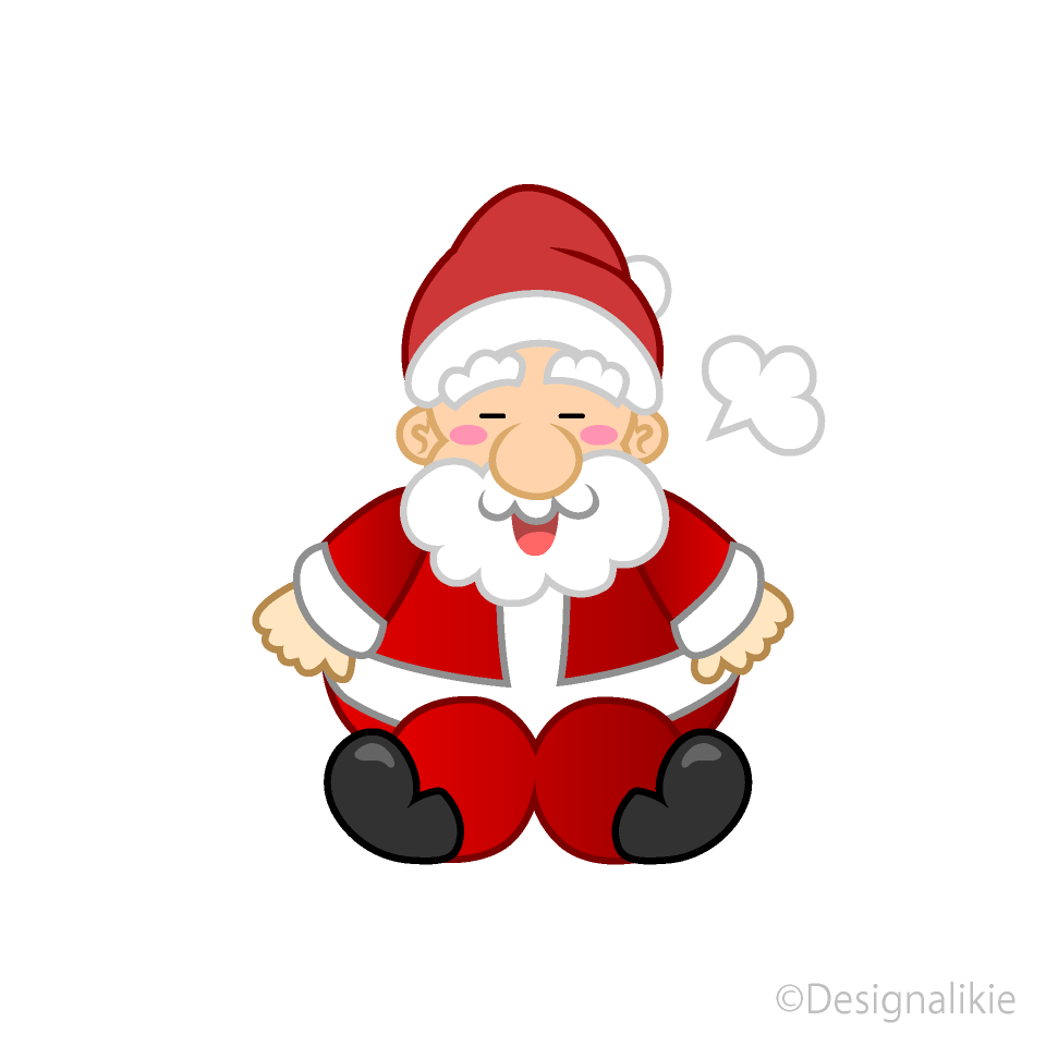 Free Santa to Take a Break Clipart Image|Illustoon.
