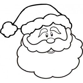Santa Face Clipart Black And White.