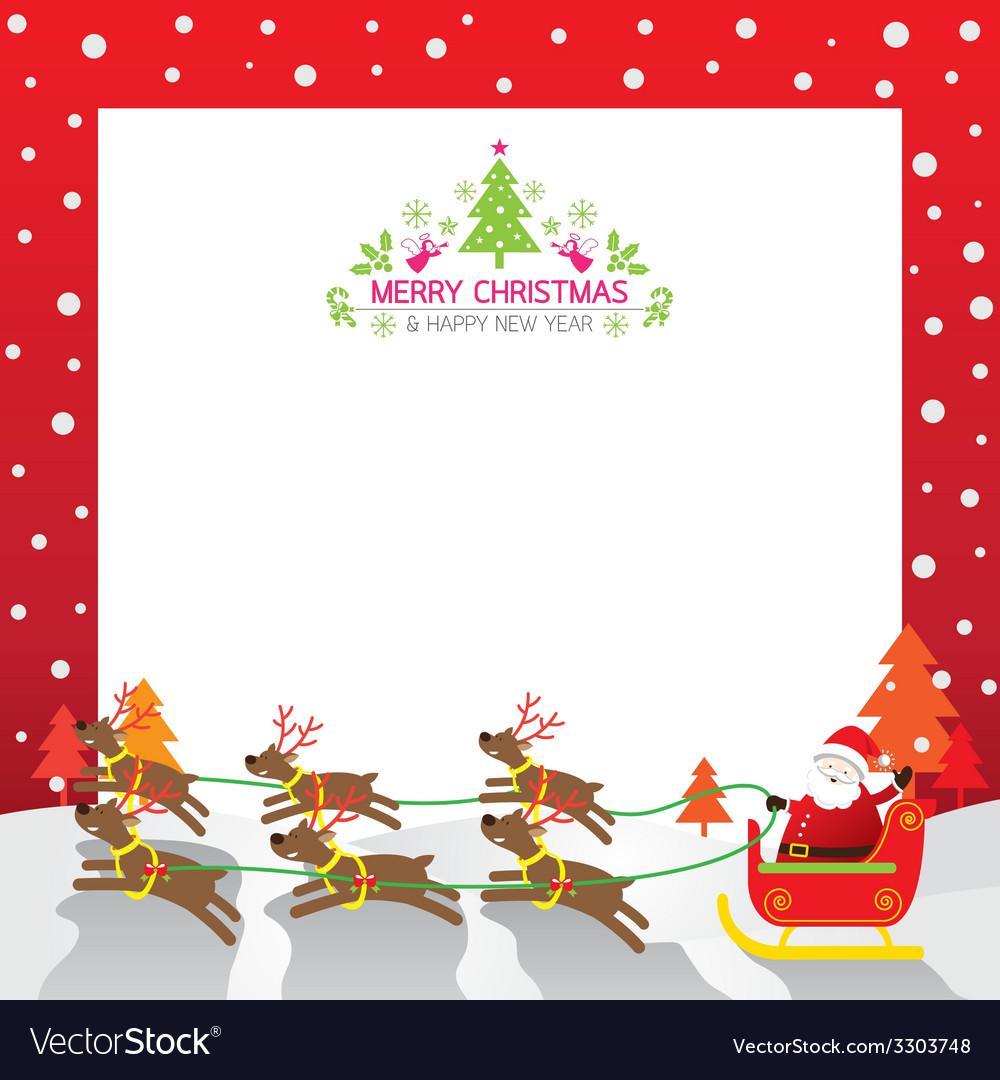Christmas Santa Reindeer Border.