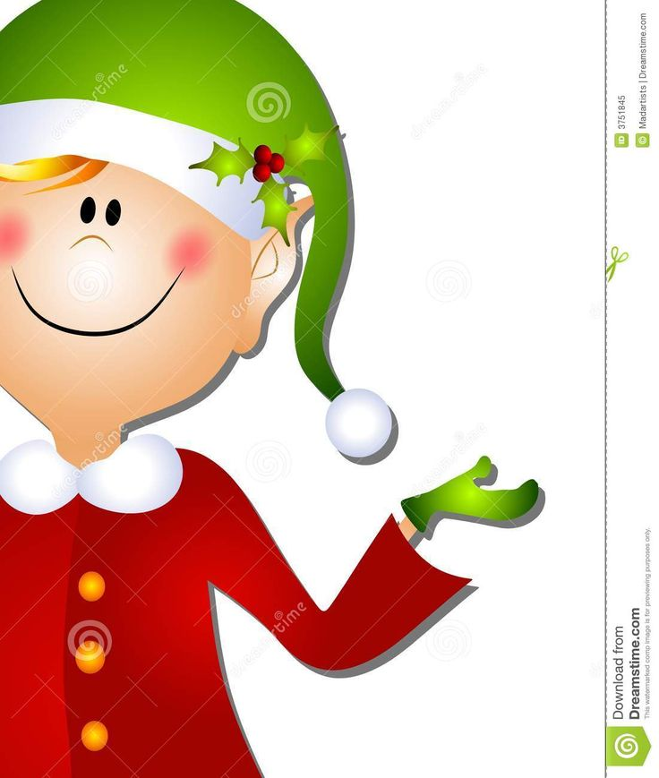 Free santa and elves on cell phone clipart.